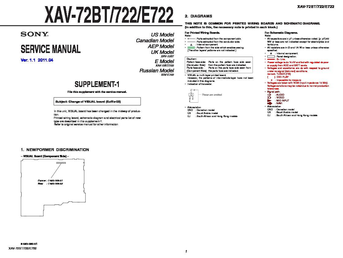 Sony Car Audio Service Manuals Page 54 Xav 70bt Wiring Diagram 722 72bt E722 Servman2