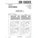 Sony XM-1002HX (serv.man3) Service Manual