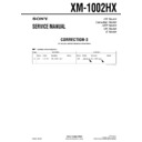 Sony XM-1002HX (serv.man5) Service Manual