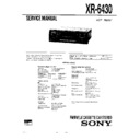 Sony XR-6430 Service Manual
