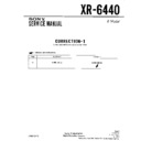 Sony XR-6440 Service Manual