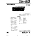 Sony XR-6440RDS Service Manual
