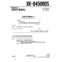 Sony XR-6450RDS (serv.man2) Service Manual