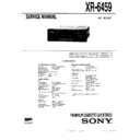Sony XR-6459 Service Manual