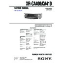 Sony XR-CA400, XR-CA410 Service Manual
