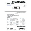 xr-ca400, xr-ca420x service manual