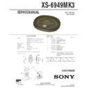 Sony XS-6949MK3 Service Manual