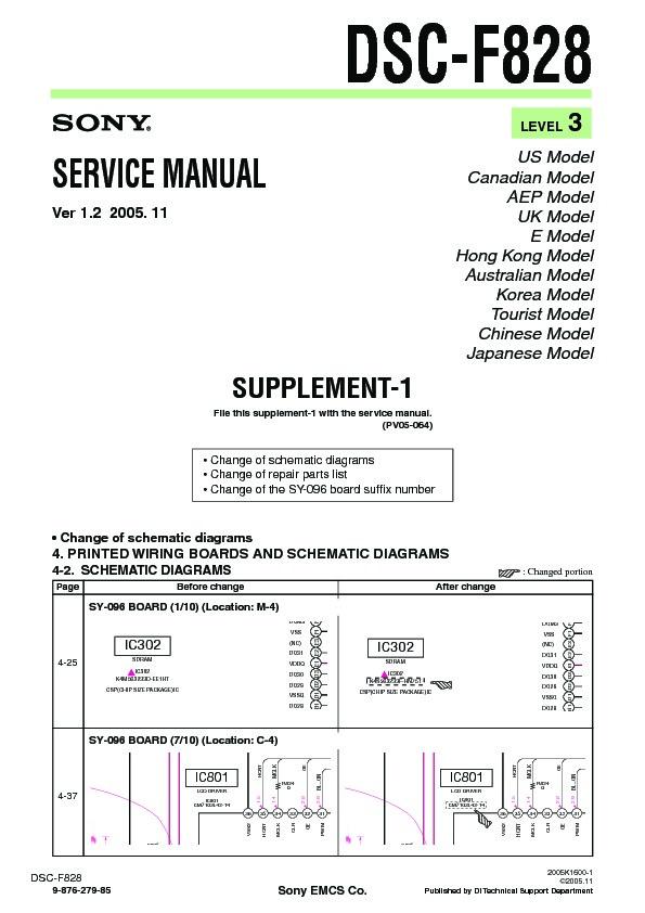 Sony dsc-f828 (serv. Man5) service manual free download.