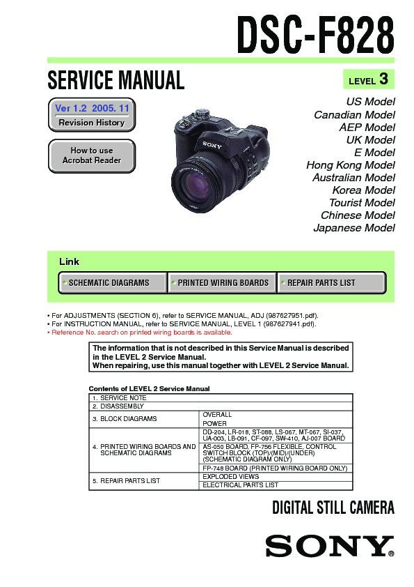 sony dsc f828 service manual view online or download repair manual rh servlib com Sony TV Repair Manual Sony ICF-C318 Manual English