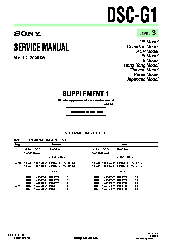 sony dsc g1 serv man8 service manual view online or download rh servlib com hp 1030 g1 service manual contax g1 service manual