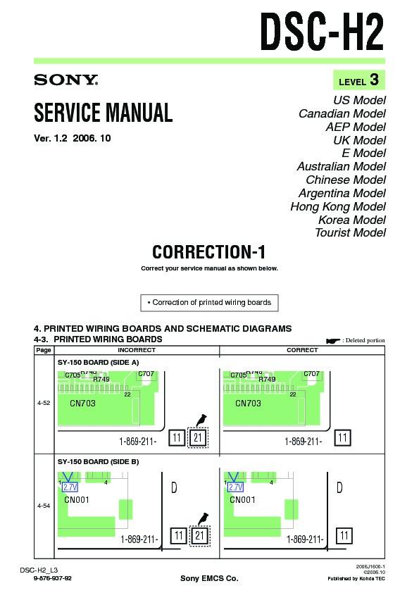 sony dsc h2  serv man14  service manual view online or download repair manual Sony DSC H2 Manual PDF sony dsc-h2 repair manual