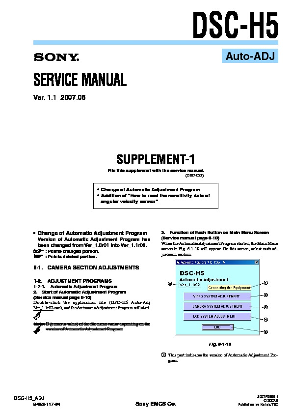 sony dsc h5 serv man7 service manual view online or download rh servlib com Sony Digital Camera Sony Camera Accessories