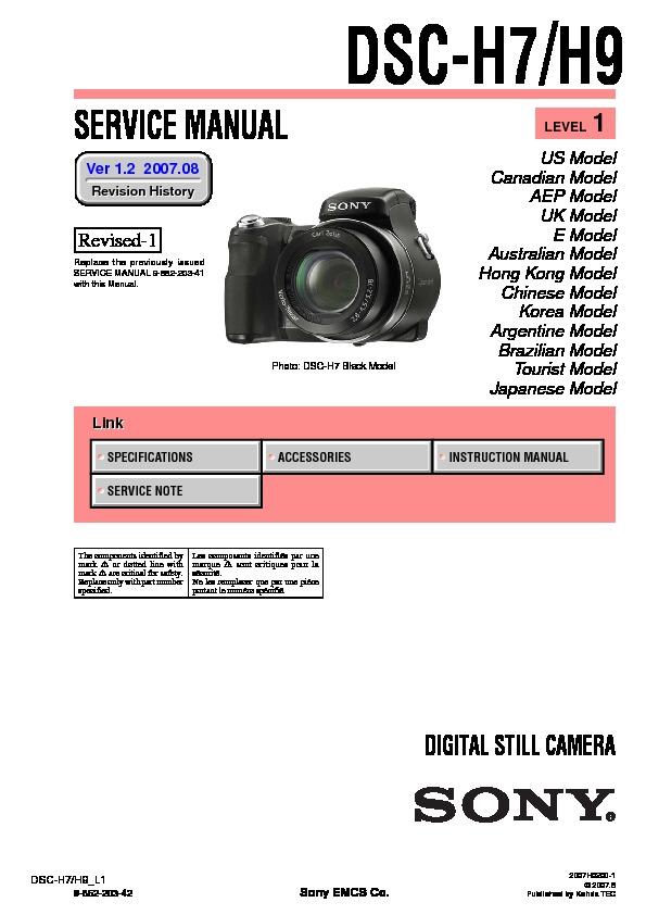 sony dsc h7 dsc h9 serv man4 service manual view online or rh servlib com dsc-h9 service manual camara sony dsc-h9 manual