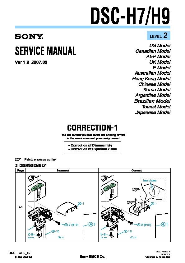 sony dsc h7 dsc h9 serv man8 service manual view online or rh servlib com sony dsc-h9 service manual sony dsc h9 manual en español