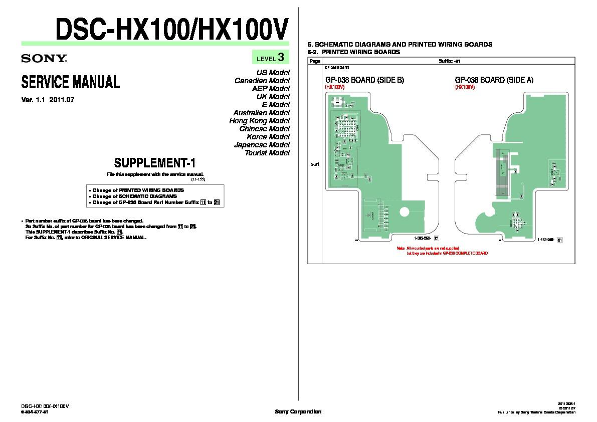 Sony Dsc Hx100v Service Manual View Online Or Download Repair 551 Wiring Diagram Servman3