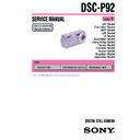 Sony DSC-P92 (serv.man3) Service Manual