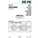 Sony DSC-P92 (serv.man5) Service Manual