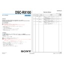 DSC-RX100 (serv.man3) Service Manual