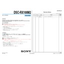 DSC-RX100M2 (serv.man3) Service Manual