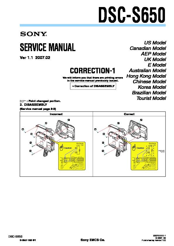 sony dsc s650 serv man3 service manual view online or download rh servlib com sony cyber-shot dsc-s650 manual español sony cyber shot dsc s650 manual