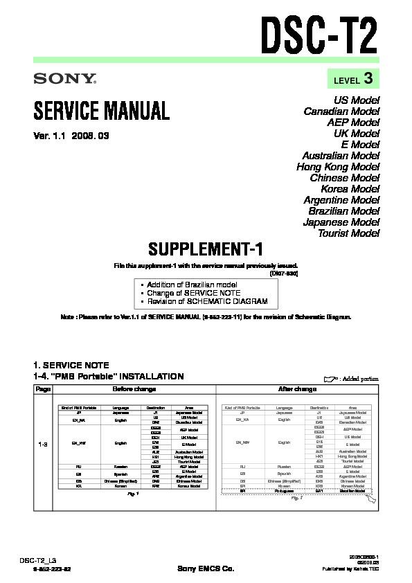 sony dsc t2 serv man6 service manual view online or download rh servlib com Sony DSC- S730 Sony Digital DSC-T200 Camera