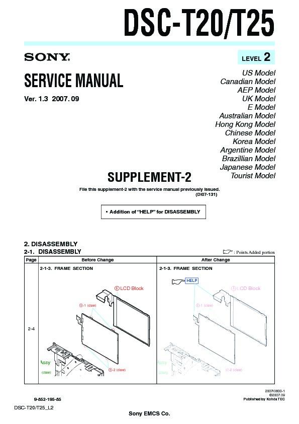 sony dsc t20 dsc t25 serv man5 service manual view online or rh servlib com Sony DSC- S730 Sony DSC- S730