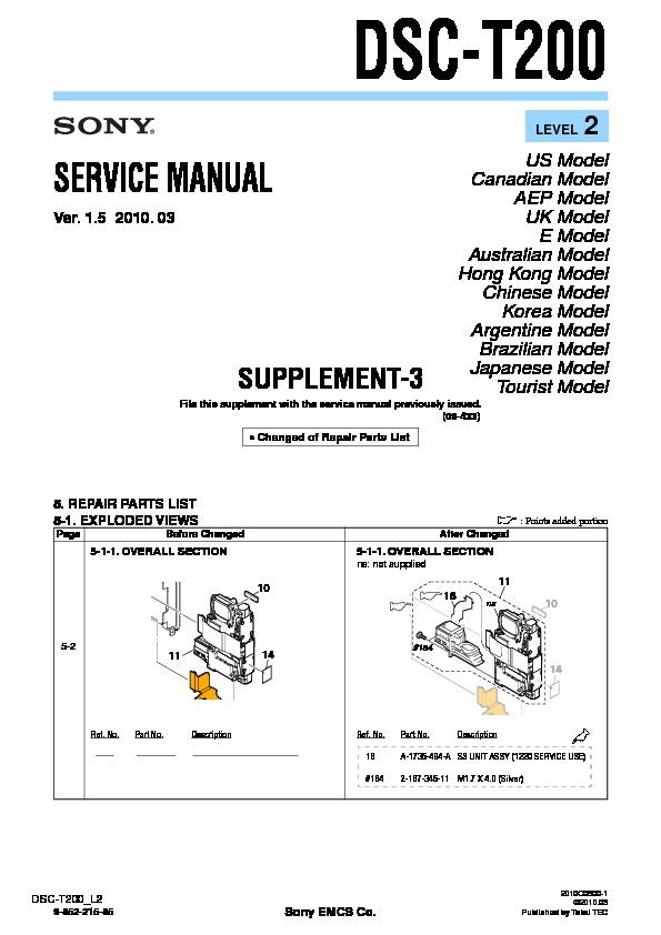 sony dsc t200 serv man7 service manual view online or download rh servlib com Sony DSC- H10 Sony DSC- S730