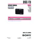 Sony DSC-T3, DSC-T33 (serv.man3) Service Manual