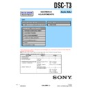 Sony DSC-T3, DSC-T33 (serv.man4) Service Manual