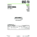 Sony DSC-T3, DSC-T33 (serv.man6) Service Manual