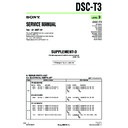 Sony DSC-T3 (serv.man2) Service Manual