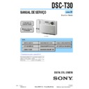 Sony DSC-T30 (serv.man11) Service Manual