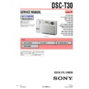 Sony DSC-T30 (serv.man2) Service Manual