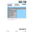 Sony DSC-T30 (serv.man3) Service Manual
