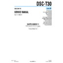 Sony DSC-T30 (serv.man5) Service Manual