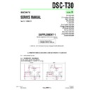 Sony DSC-T30 (serv.man6) Service Manual