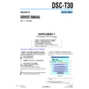 Sony DSC-T30 (serv.man7) Service Manual