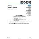 Sony DSC-T300 (serv.man6) Service Manual