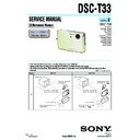 Sony DSC-T33 (serv.man2) Service Manual