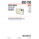 Sony DSC-T33 (serv.man3) Service Manual