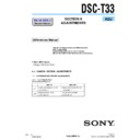 Sony DSC-T33 (serv.man4) Service Manual