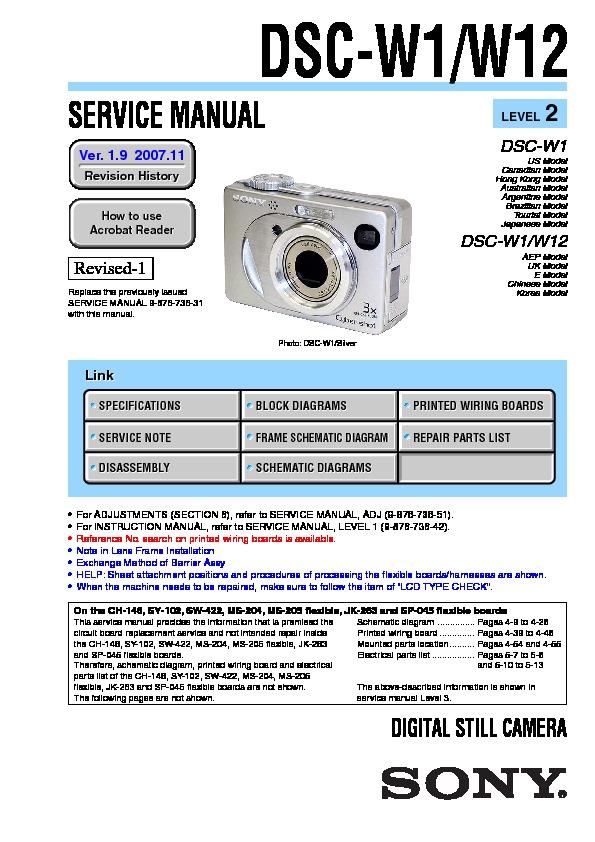 sony dsc w1 manual pdf