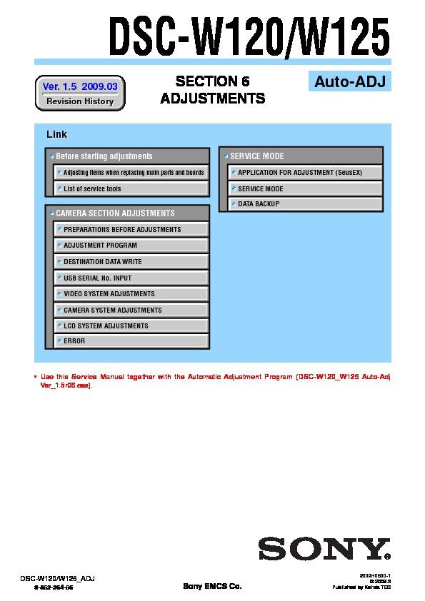 sony dsc w120 dsc w125 serv man3 service manual view online or rh servlib com Manual Sony DSC DSC Alarm Manual Home