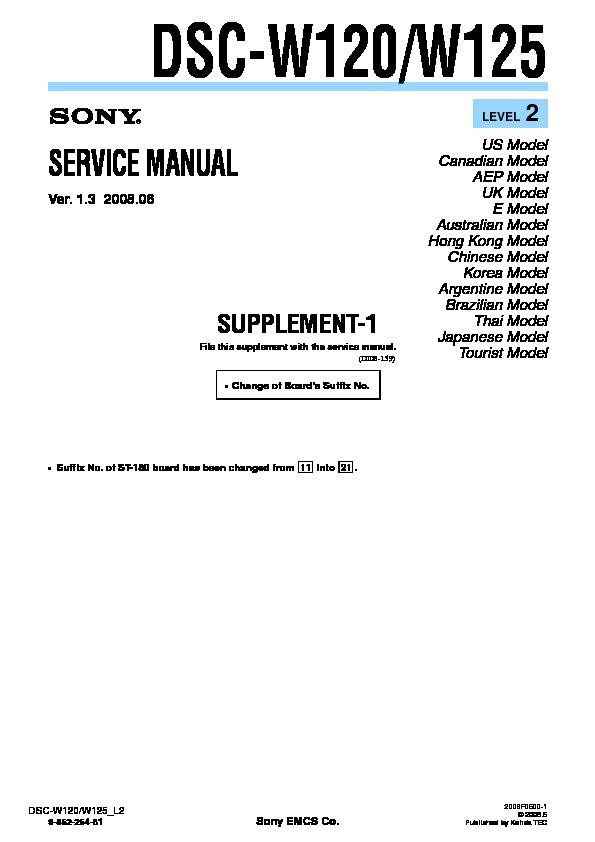 sony dsc w120 dsc w125 serv man4 service manual view online or rh servlib com Sony Cyber-shot DSC-H70 Manual ADT DSC Manual