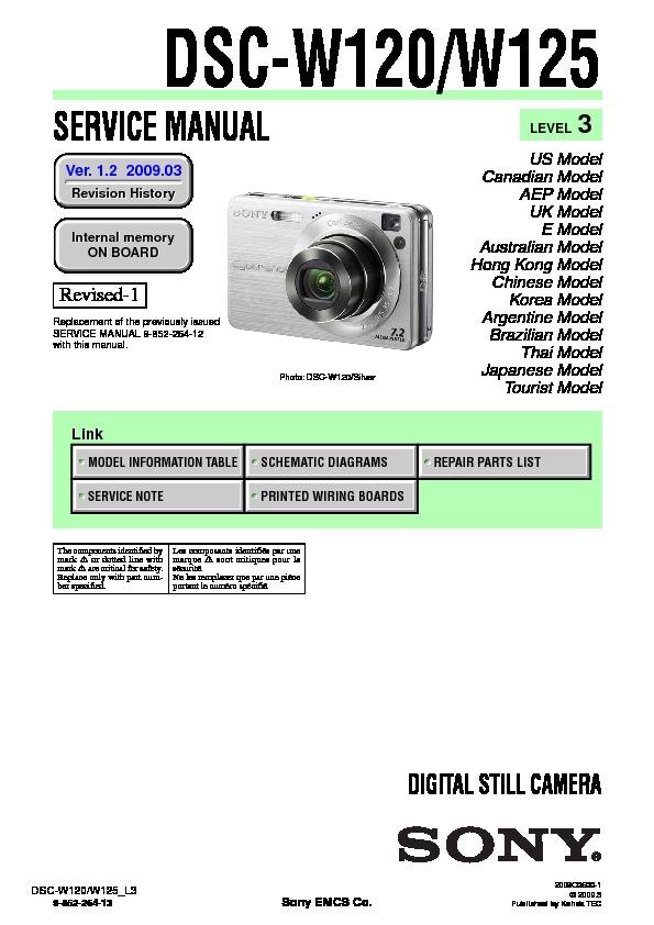 sony dsc w120 dsc w125 service manual view online or download rh servlib com DSC PK5501 Manual ADT DSC Manual
