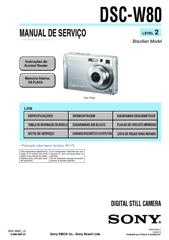 sony dsc w80 serv man2 service manual view online or download rh servlib com sony dsc-w80 service manual sony dsc w800 manual focus