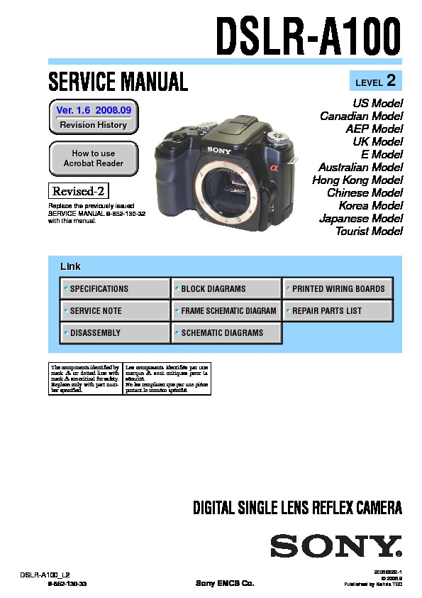 sony digital camera service manuals page 68 rh servlib com sony alpha dslr a200 service manual Sony A200 Camera
