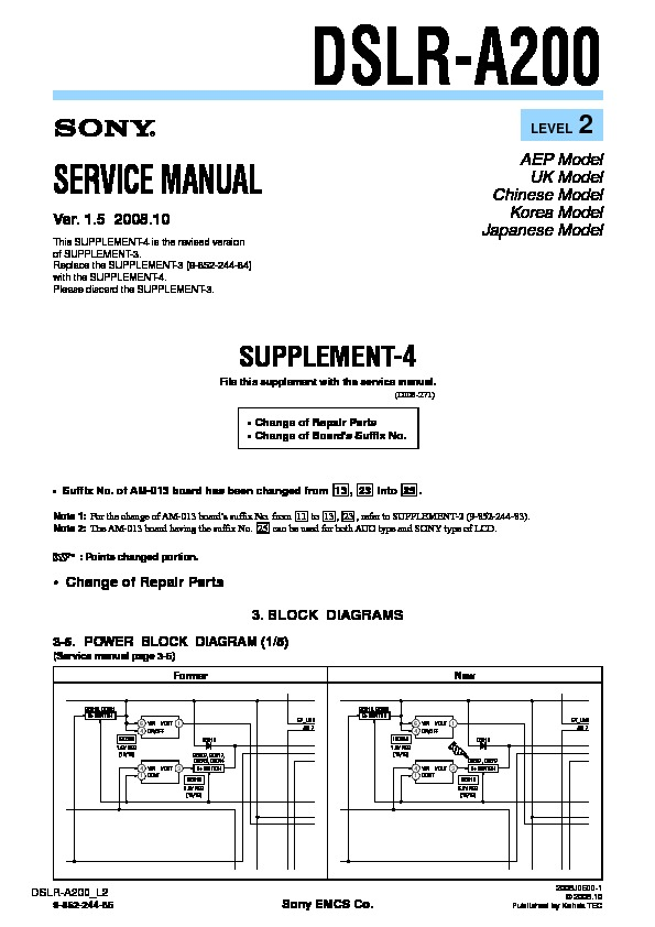 sony dslr a200 serv man3 service manual view online or download rh servlib com sony alpha a200 service manual sony alpha a200 service manual