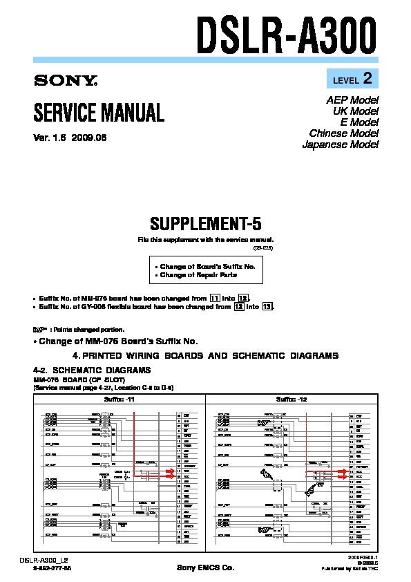 sony dslr a300 serv man5 service manual view online or download rh servlib com sony alpha a300 service manual sony ta-a300 service manual