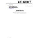 Sony AVD-C700ES (serv.man2) Service Manual